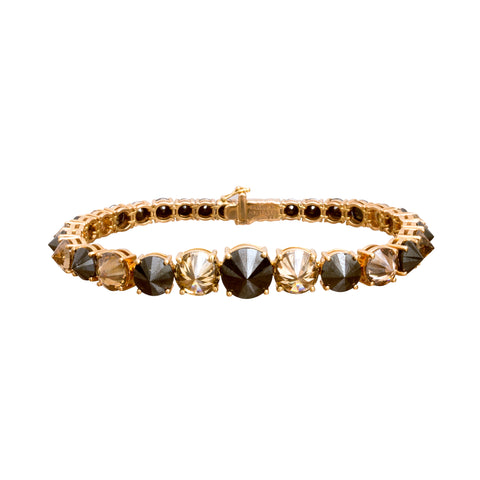 Black and Brown Diamond Bracelet