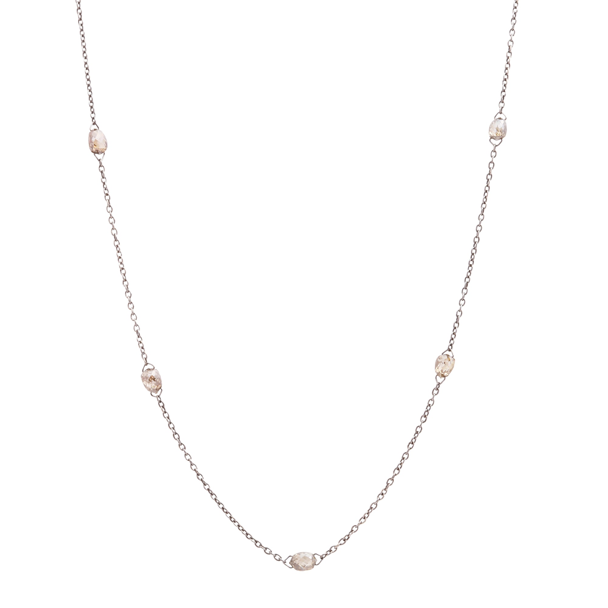Brown Diamond Briolette Necklace