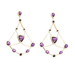 Amethyst Chandelier Earrings
