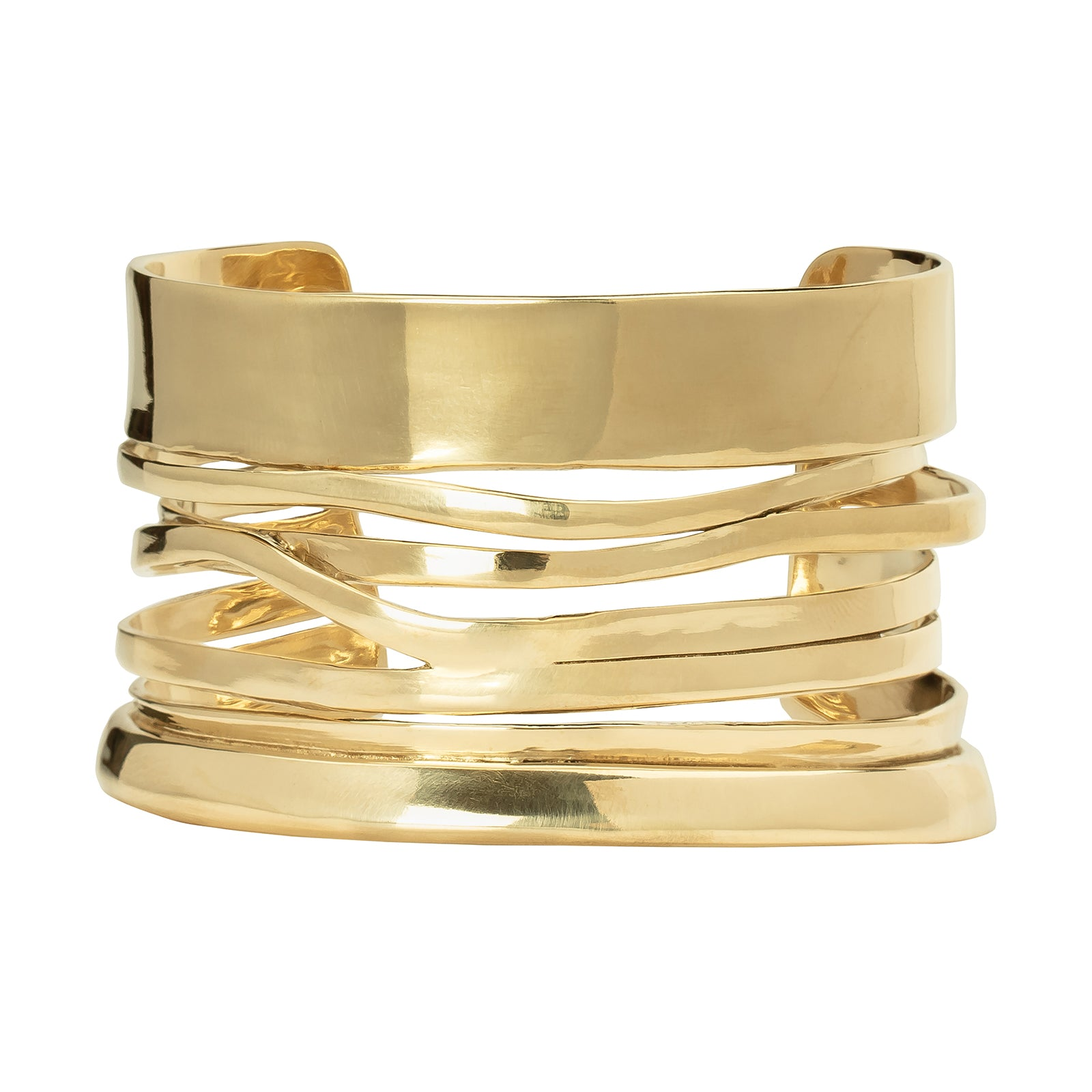 Ariana Boussard-Reifel Pele Cuff - Brass - Bracelets - Broken English Jewelry