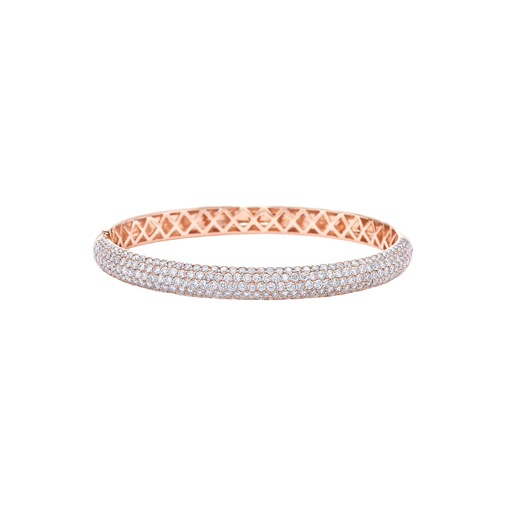 Kwiat Stackable Diamond Bracelet - Rose Gold - Bracelets - Broken English Jewelry