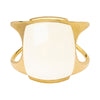 Lisa Eisner Jewelry White Cacholong Frizzle Crisp Cuff - Bracelets - Broken English Jewelry