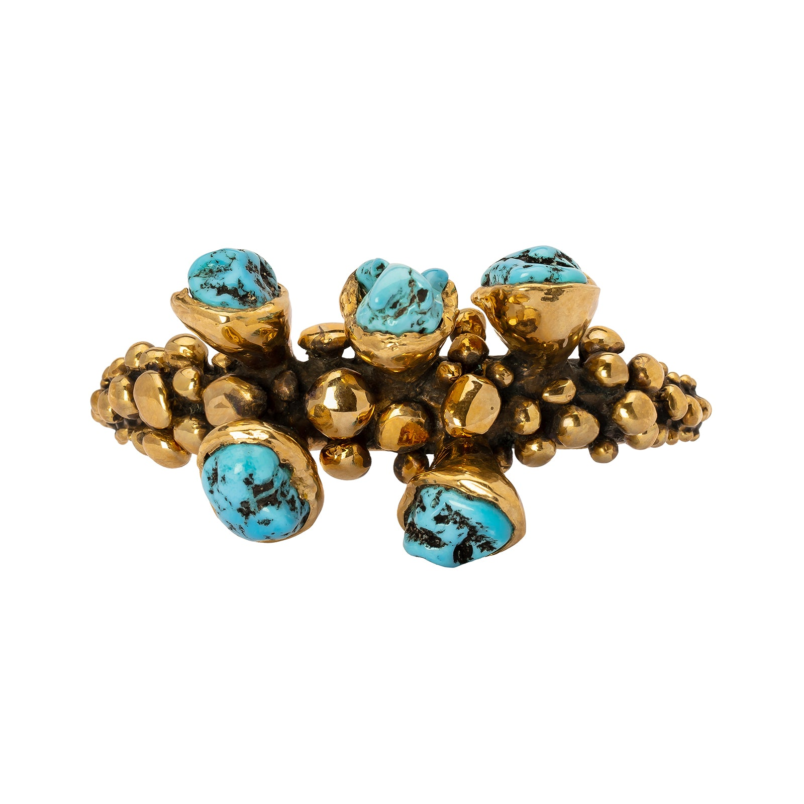 Lisa Eisner Jewelry No. 8 Mine Turquoise Nugget Bangle - Bracelets - Broken English Jewelry