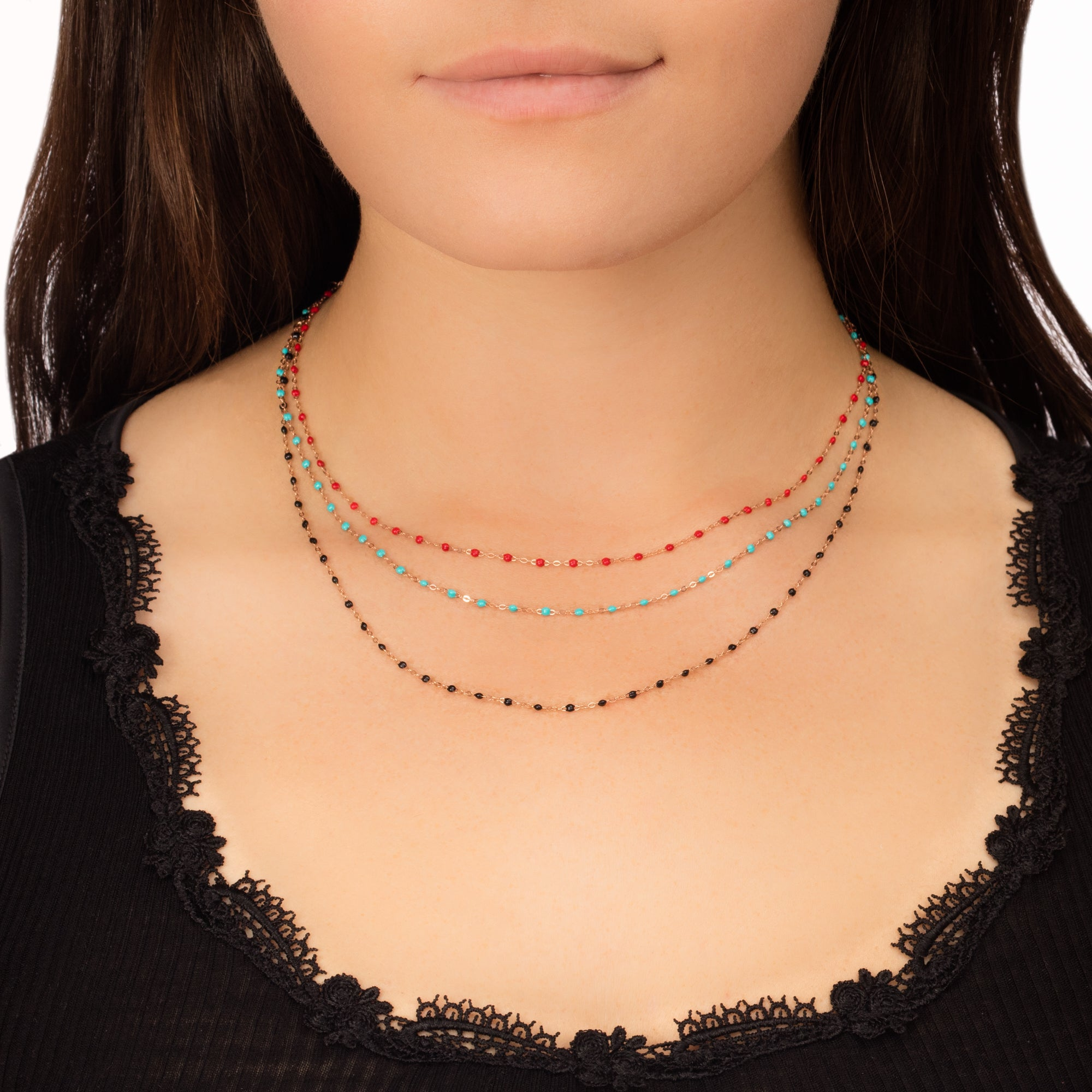 "16"" Gold & Resin Chain Necklace by Gigi Clozeau for Broken English Jewelry"