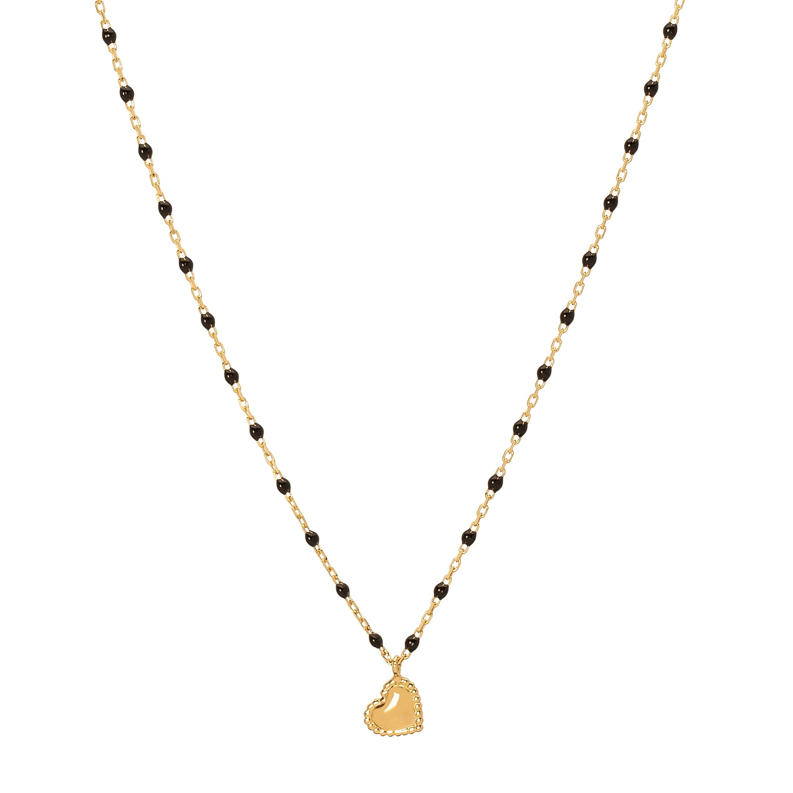 Gigi Clozeau Lucky Heart Necklace - Black - Necklaces - Broken English Jewelry