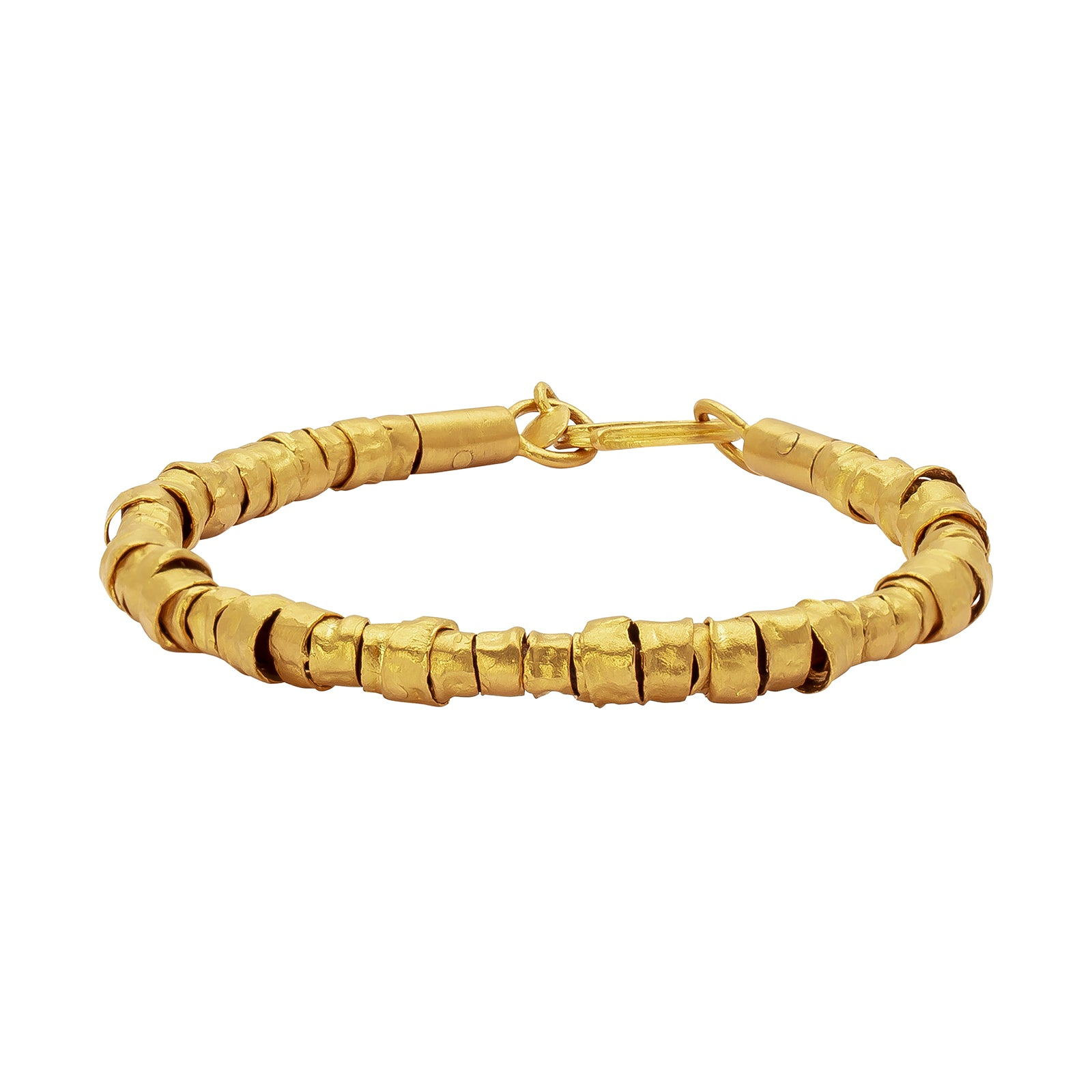 Eli Halili Gold Slider Bead & Leather Bracelet - Bracelets - Broken English Jewelry