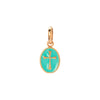Gigi Clozeau Madone Resin Cross Pendant - Turquoise Green - Charms & Pendants - Broken English Jewelry