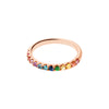 Carbon & Hyde Rainbow Ring - Rings - Broken English Jewelry