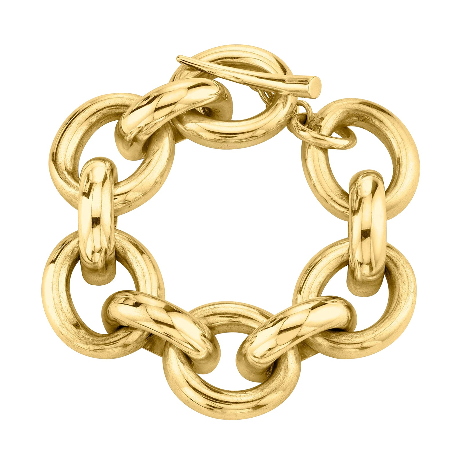 Gabriela Artigas & Company Full Link Bracelet - Yellow Gold - Bracelets - Broken English Jewelry