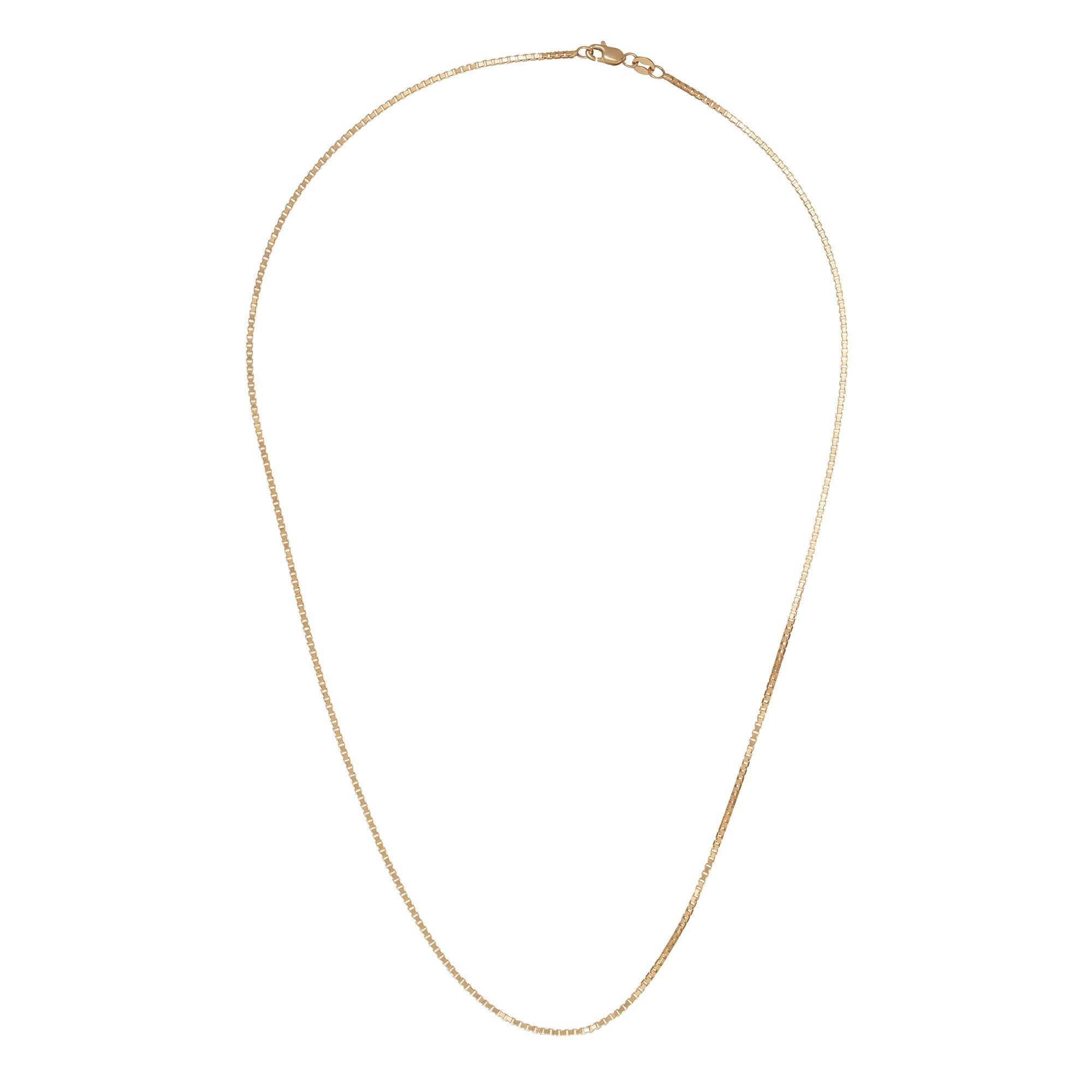 "18"" Box Chain - Broken English - Necklaces 