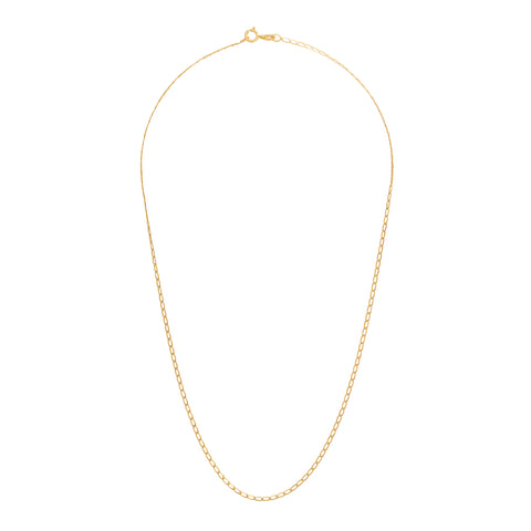 "Elongated Curb Chain 16"" - Broken English - Necklaces 