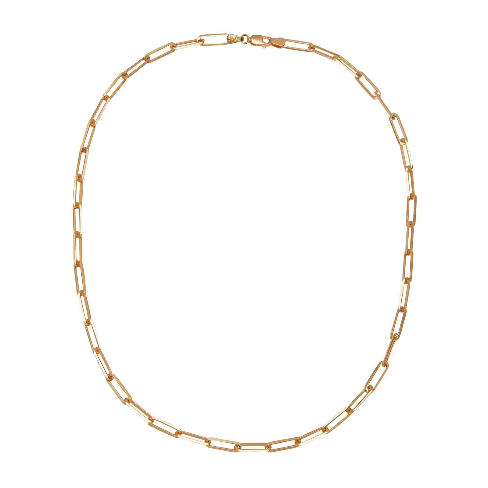 "Broken English 18"" XL Elongated Link Chain - Necklaces - Broken English Jewelry"