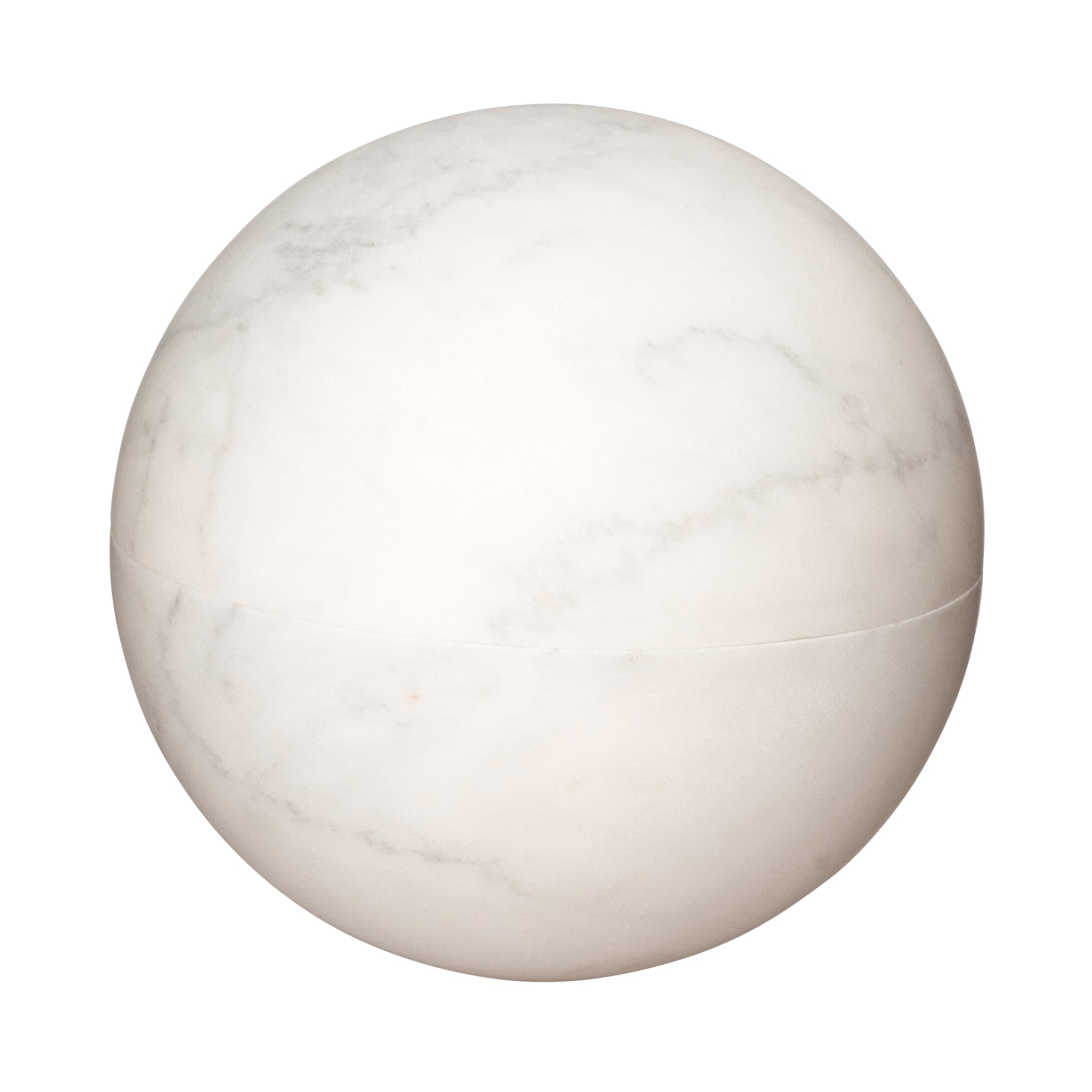 Large White & Grey Marble Sphere Box