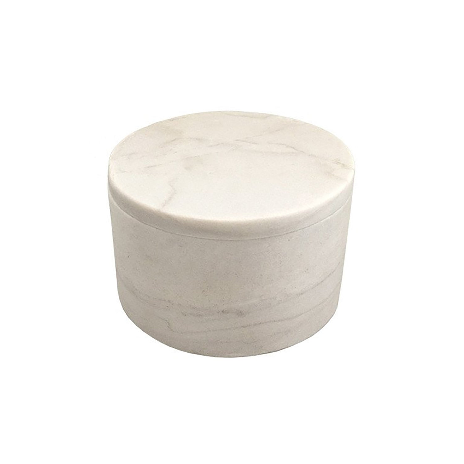 Small White Marble Cylinder Box