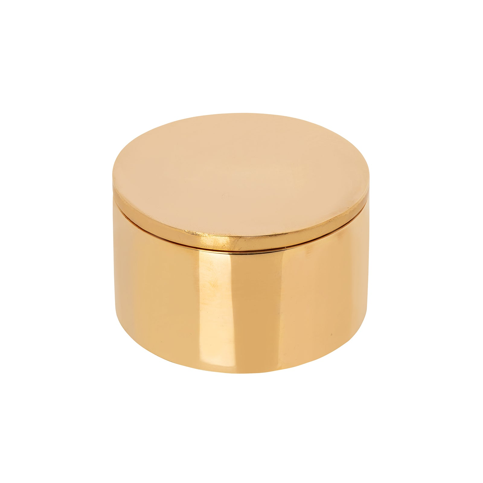 BE Home Round Architectural Brass Box - Small - Home & Decor - Broken English Jewelry