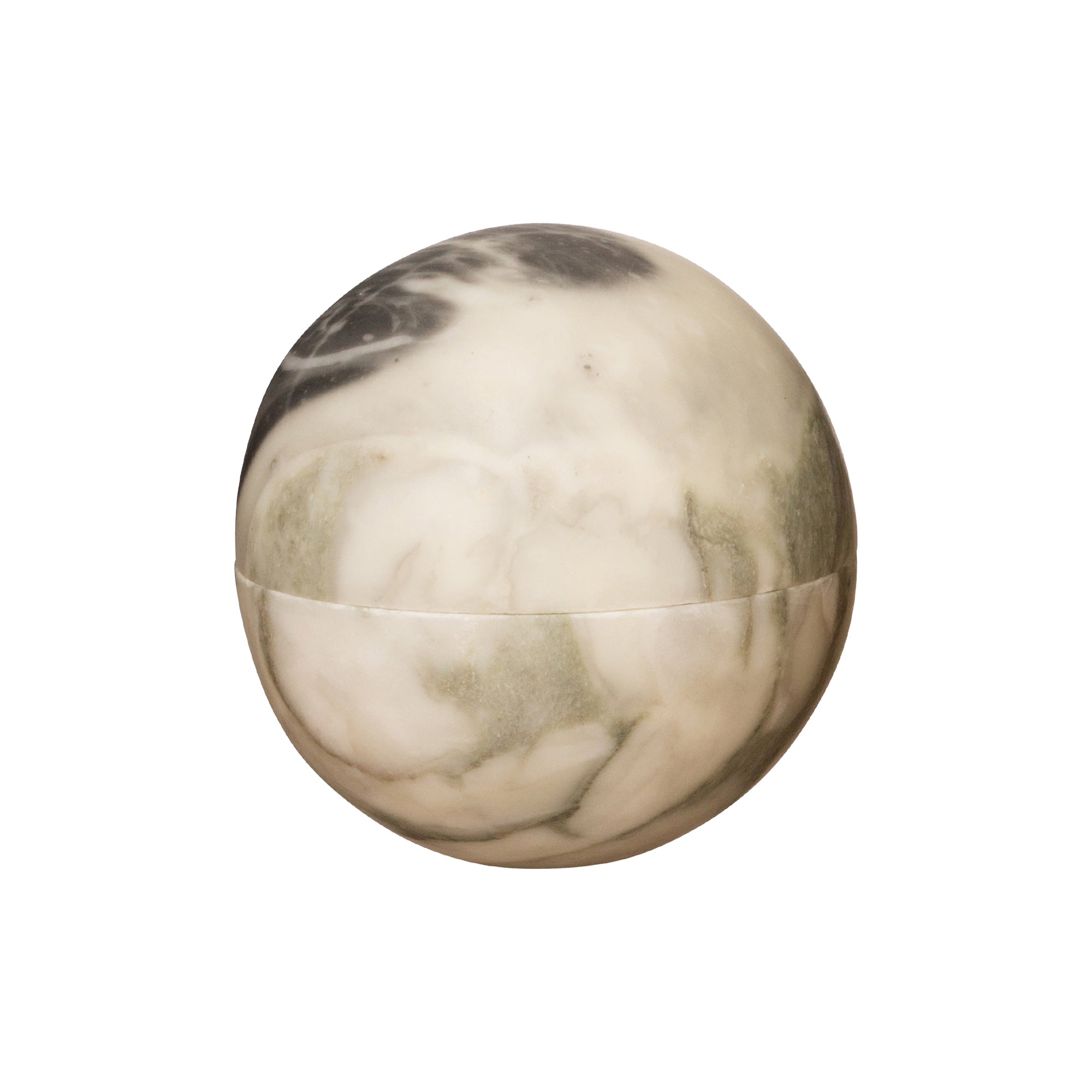 Small Green Swirl Marble Sphere Box