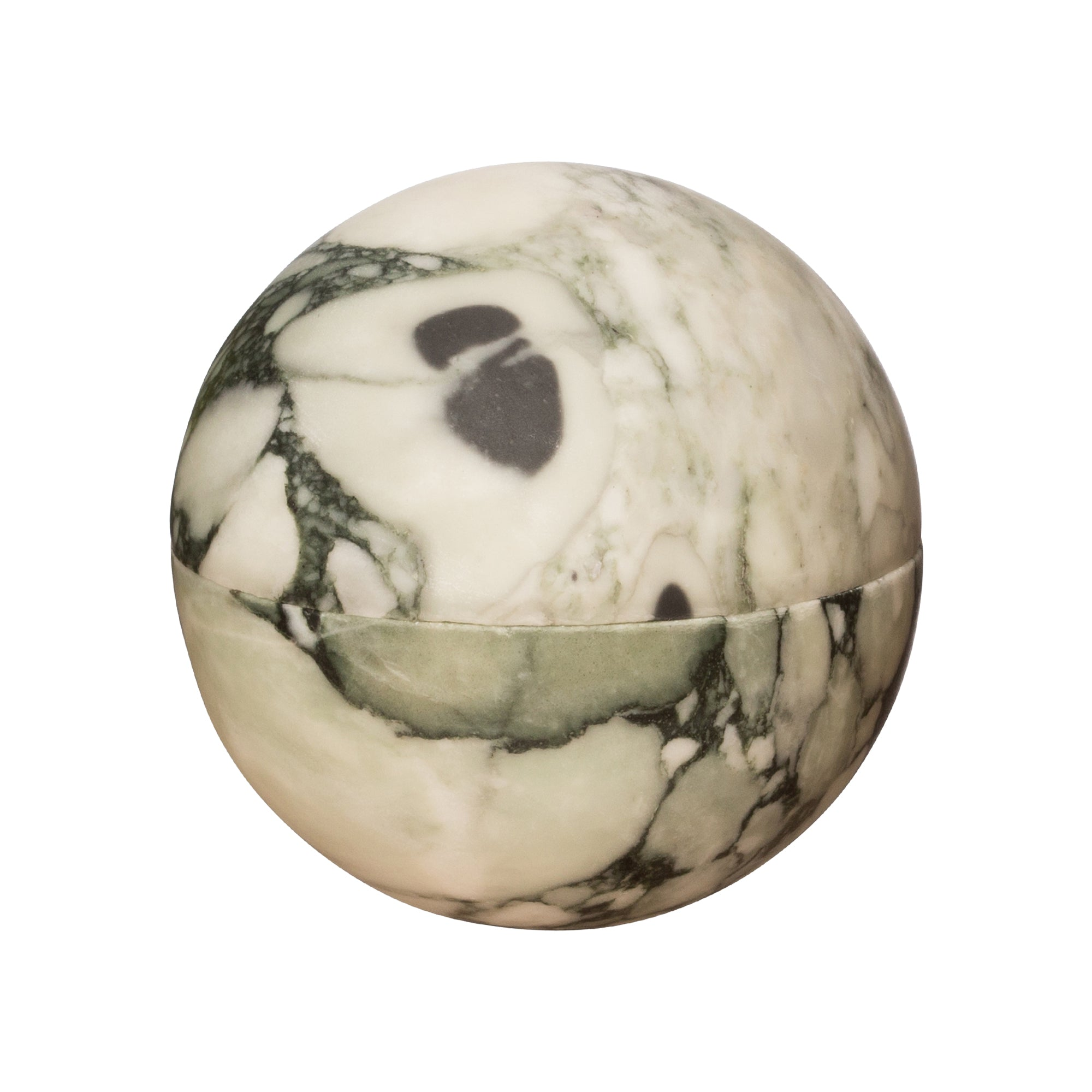 Medium Green Swirl Marble Sphere Box