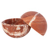 Broken English Home Medium Chicken Blood Marble Sphere Box - Home & Decor - Broken English Jewelry