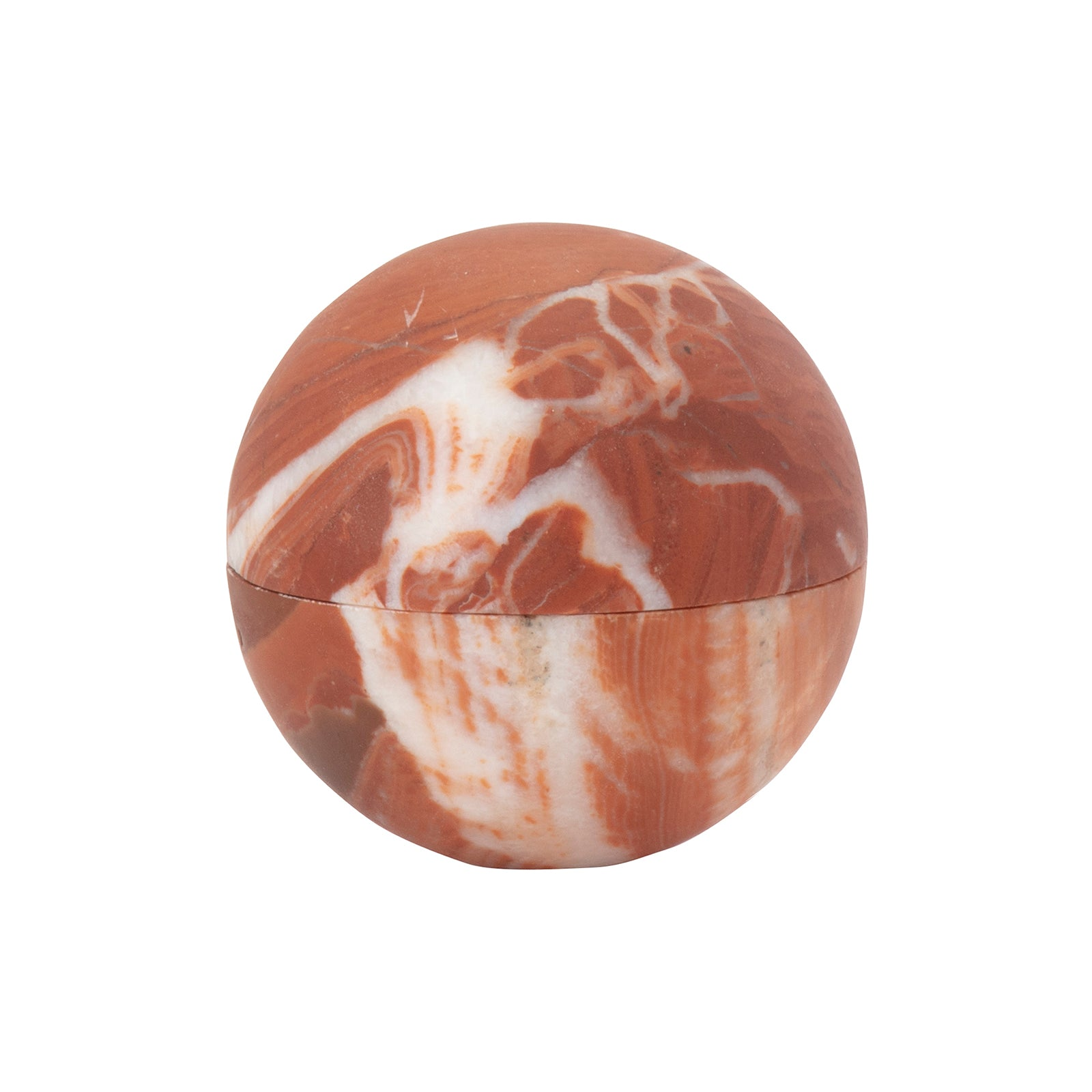 Broken English Home Small Chicken Blood Marble Sphere Box - Home & Decor - Broken English Jewelry