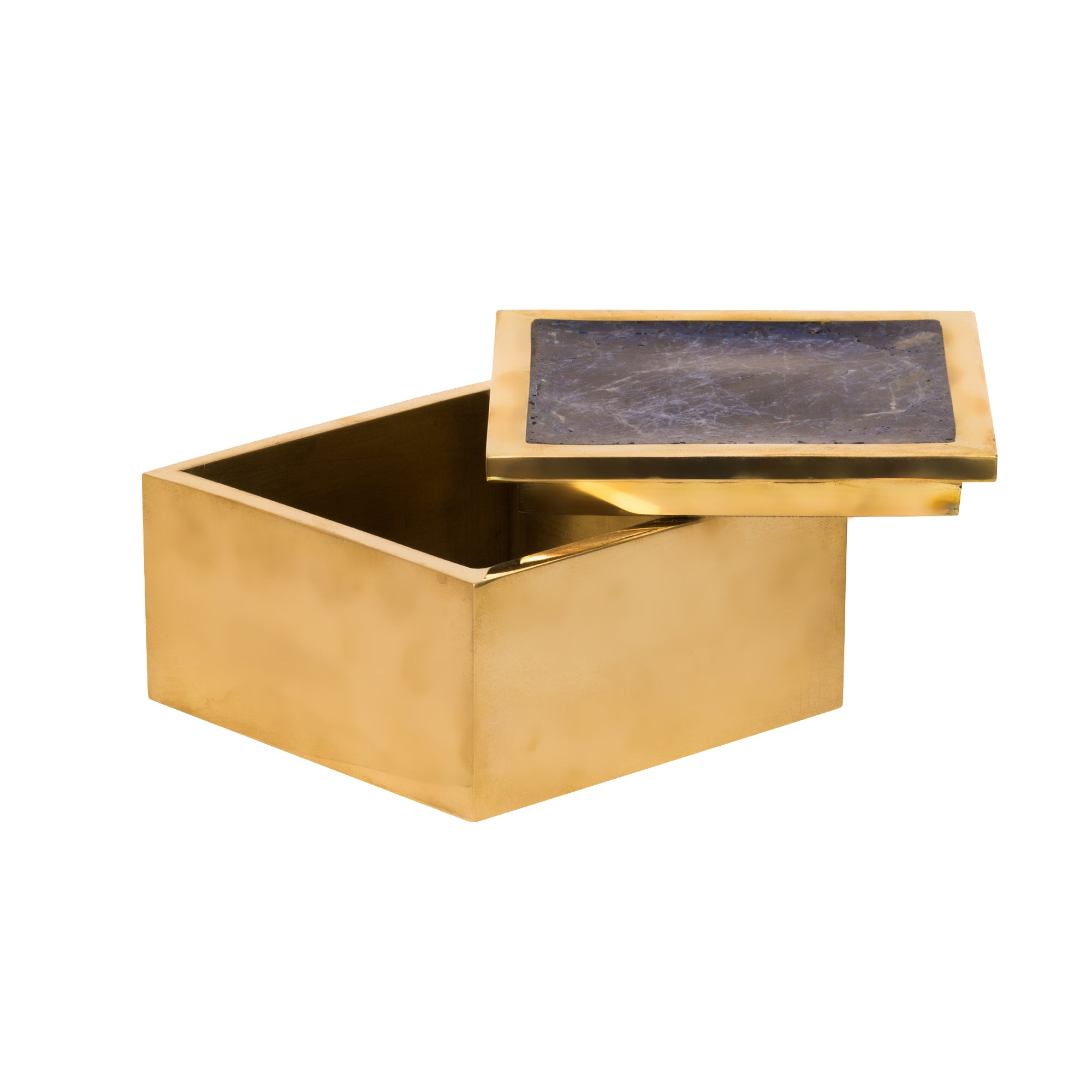 Brass & Crushed Amethyst Box