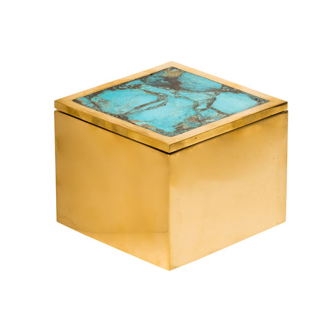 Brass & Turquoise Box