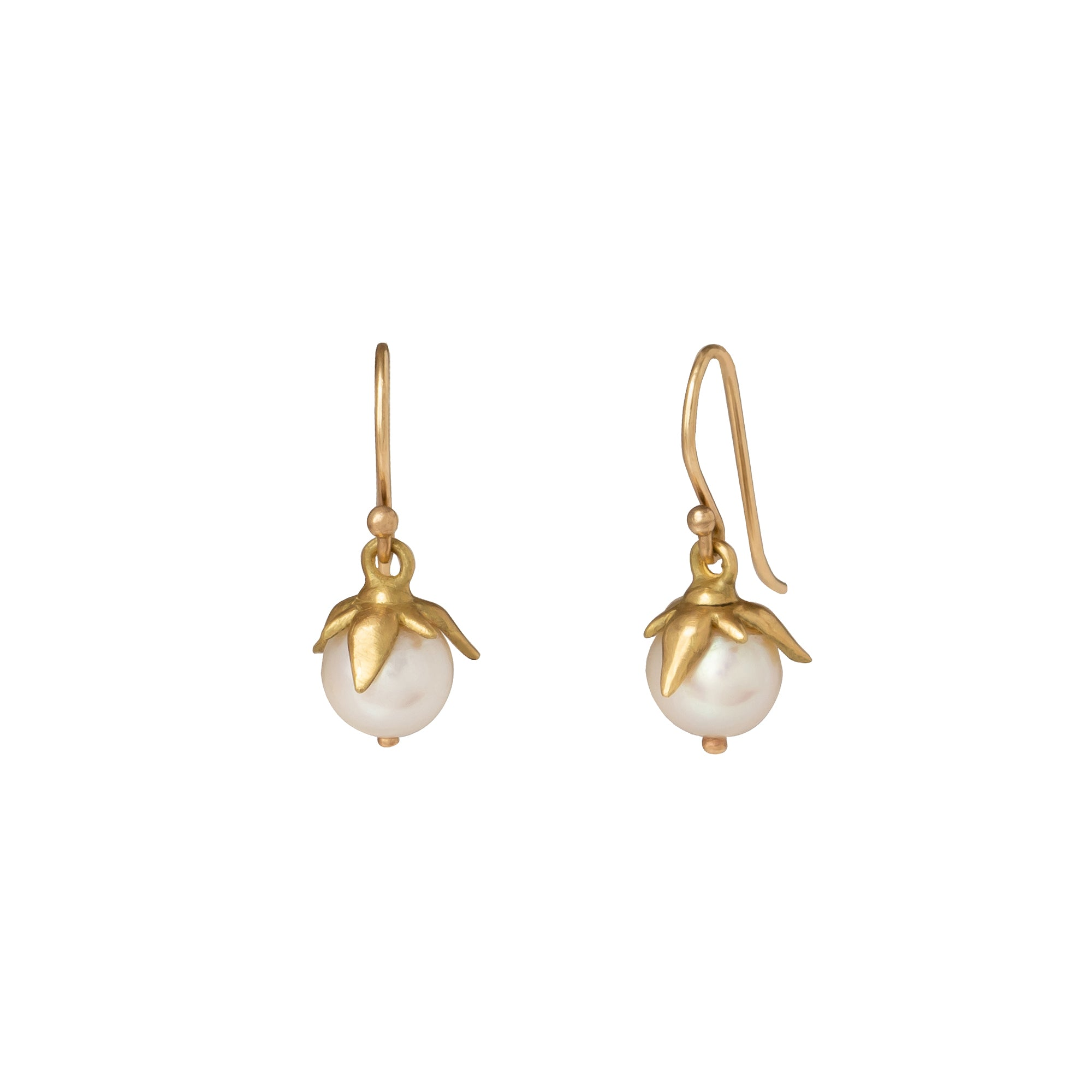 White Pearl Berries Earrings - Annette Ferdinansen - Earrings | Broken English Jewelry