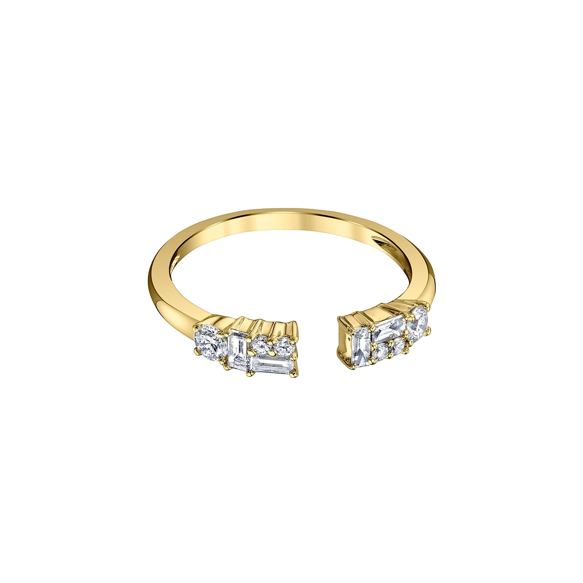 Gold & Mixed Cut Diamond Band by Borgioni for Broken English Jewelry