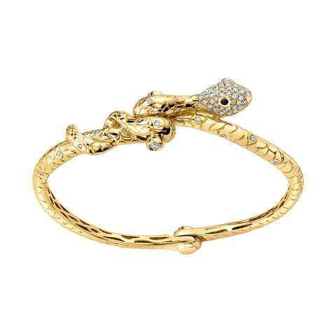 Skinny Snake Handcuff Bangle - Borgioni - Bracelet | Broken English Jewelry