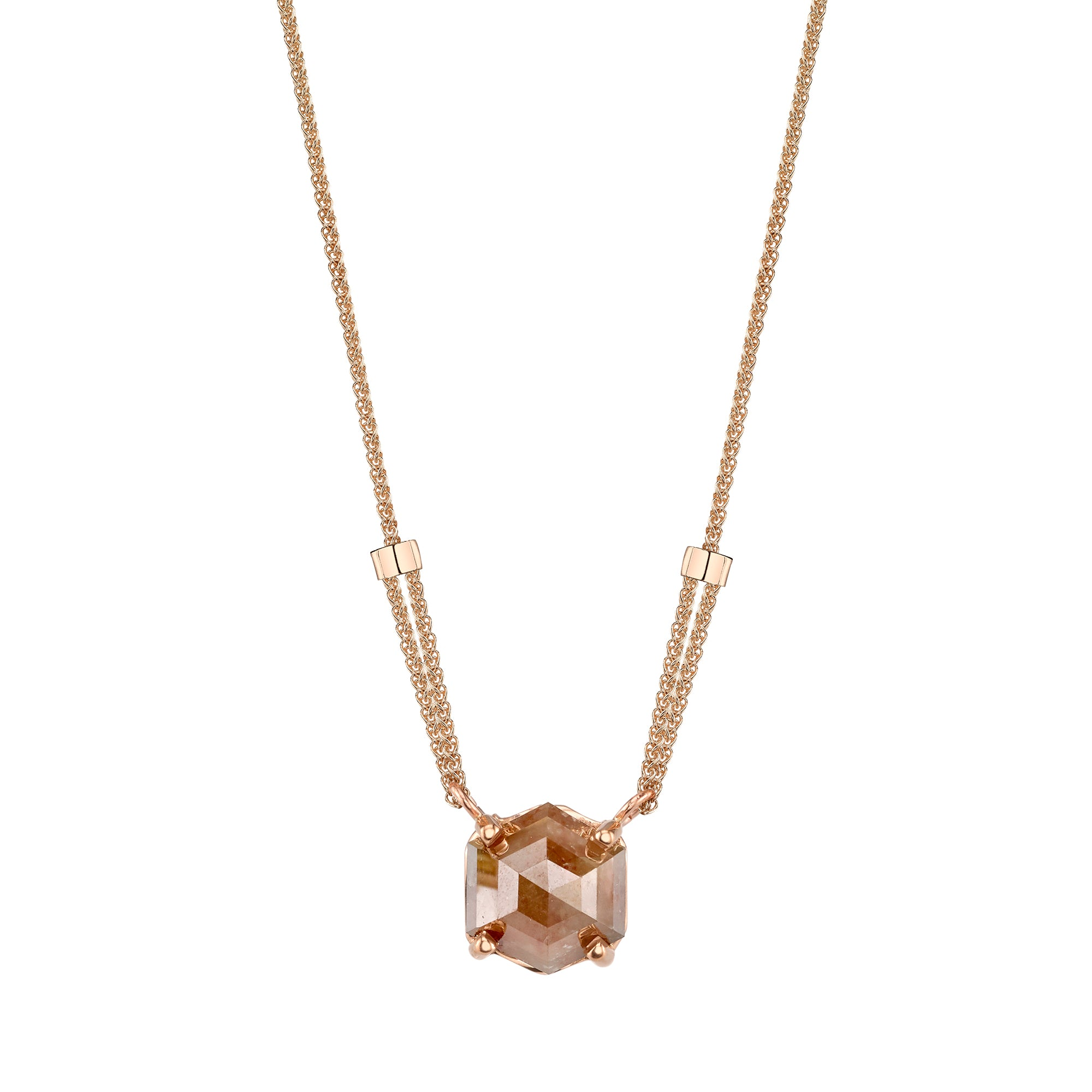 Rose Cut Opaque Diamond Necklace