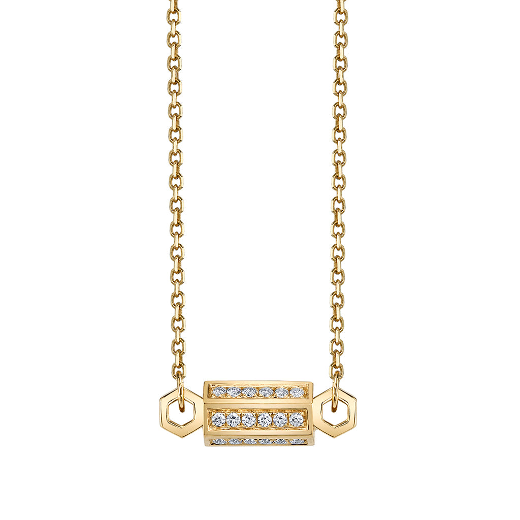 Pave Bolt Necklace