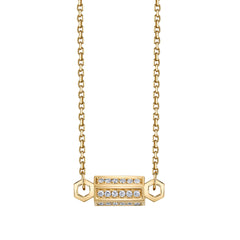Gold & Diamond Pave Bolt Necklace by Borgioni for Broken English Jewelry