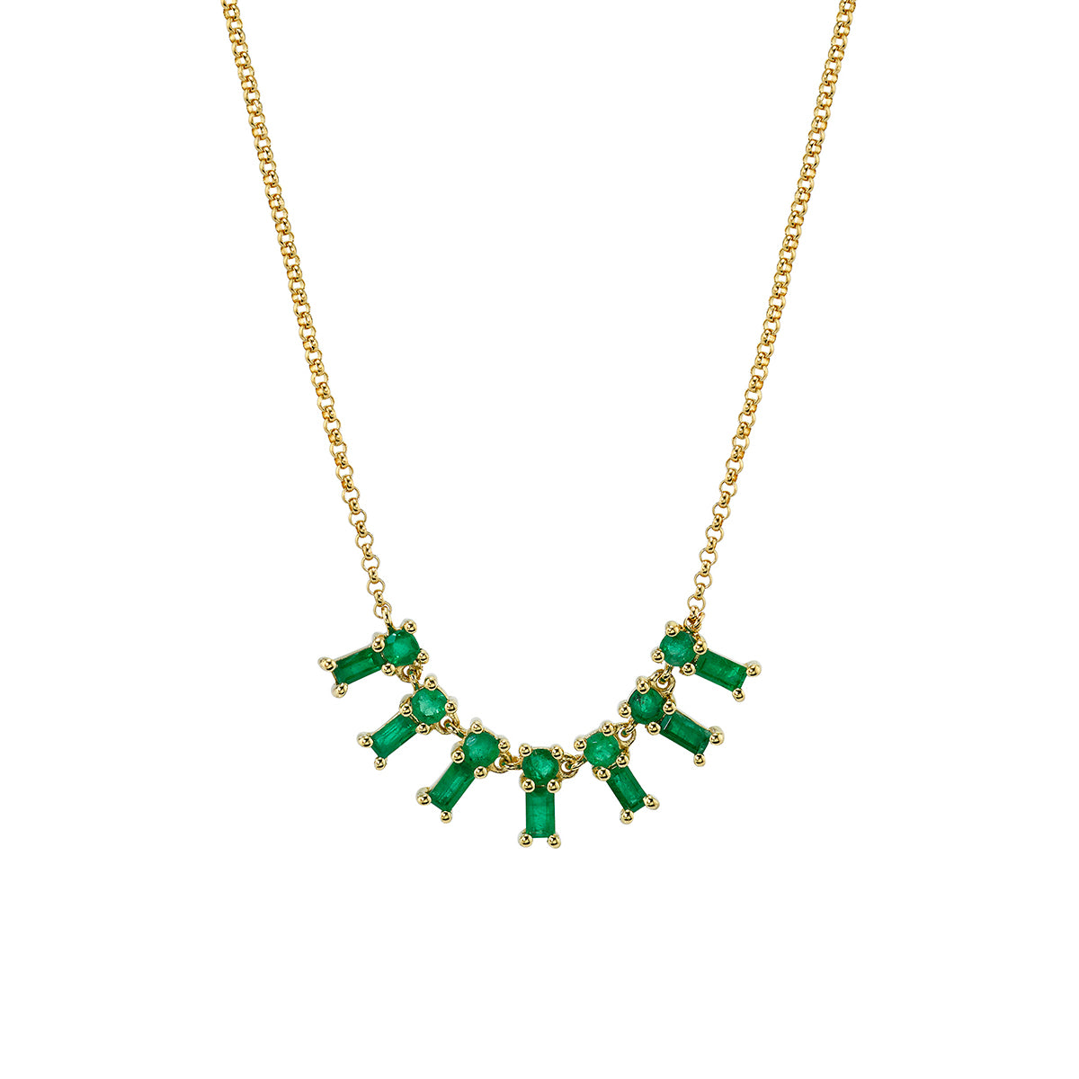 Emerald Dangle Necklace by Borgioni for Broken English Jewelry