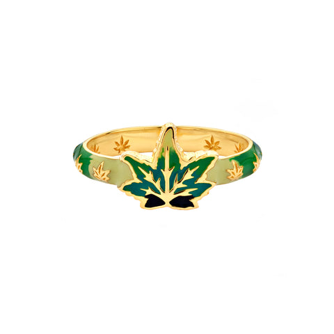 Skinny Weed Leaf Ring - Buddha Mama - Ring | Broken English Jewelry