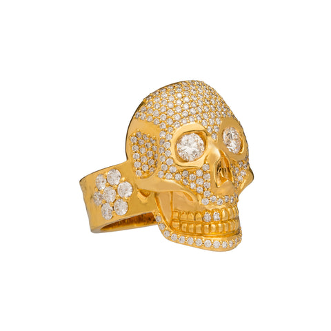 Pave Skull Ring by Buddha Mama for Broken English Jewelry