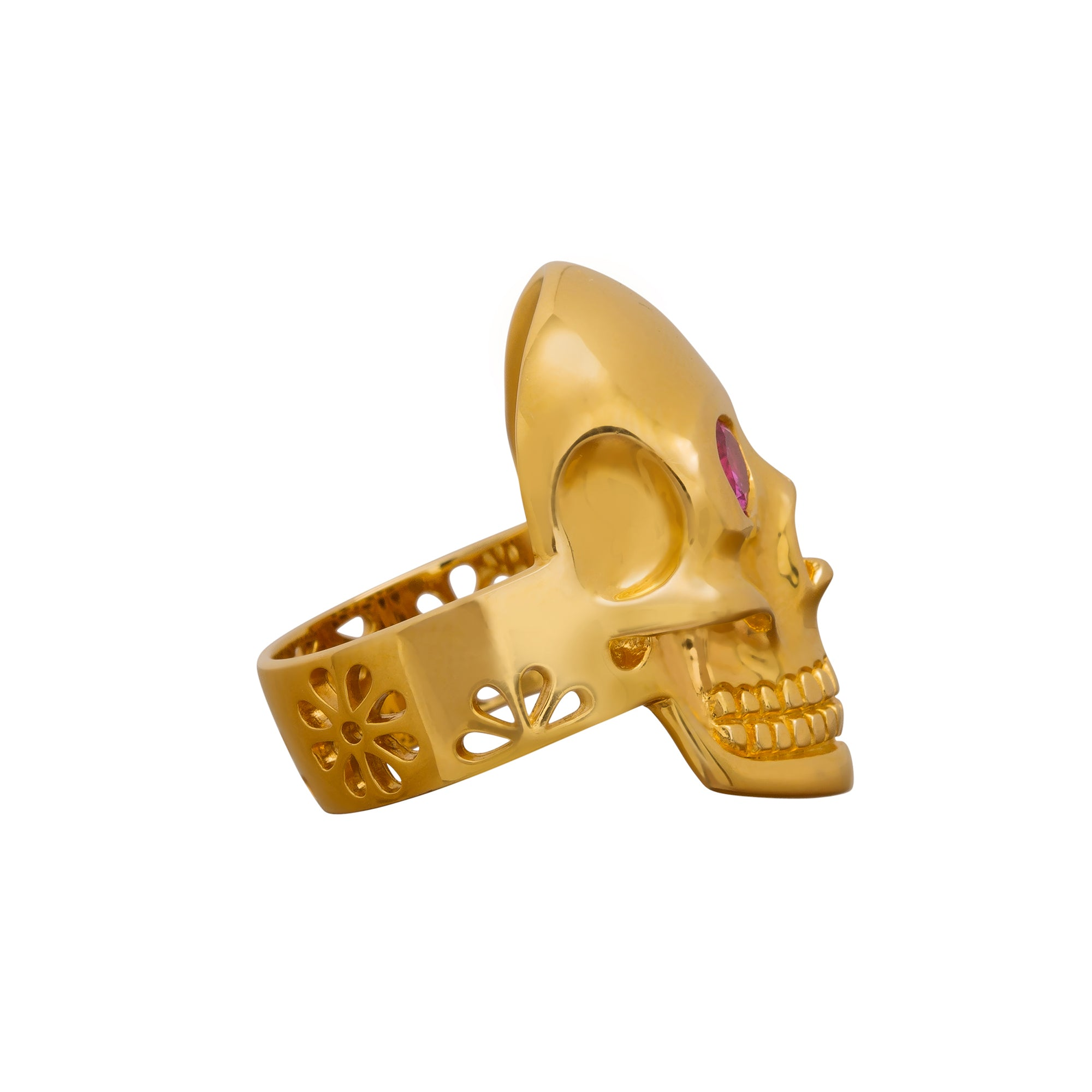 Solid Skull Ring by Buddha Mama for Broken English Jewelry