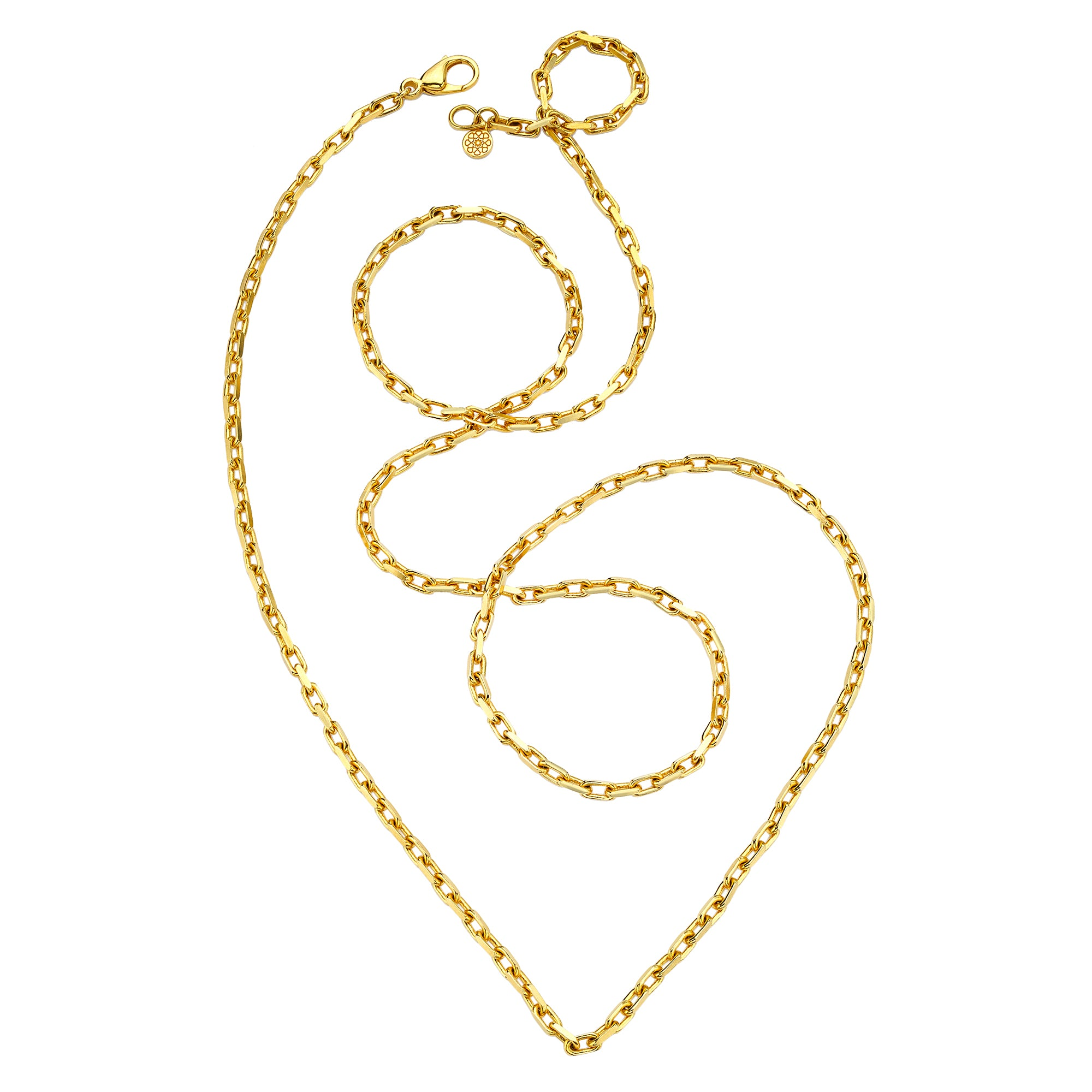 Gold Cable Chain by Buddha Mama for Broken English Jewelry
