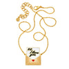 Gold Enamel Love Letter Necklace by Buddha Mama for Broken English Jewelry