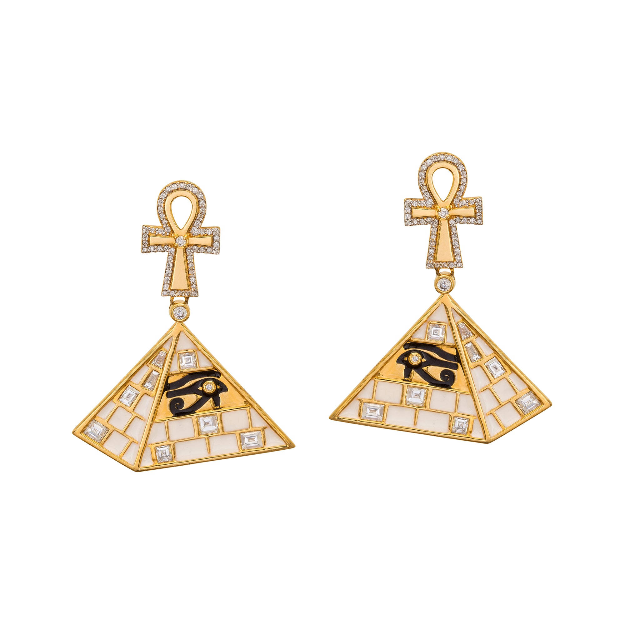 Pyramid Earrings by Buddha Mama for Broken English Jewelry