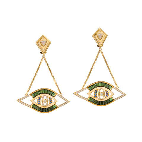 Cut-Out Evil Eye Earrings by Buddha Mama for Broken English Jewelry
