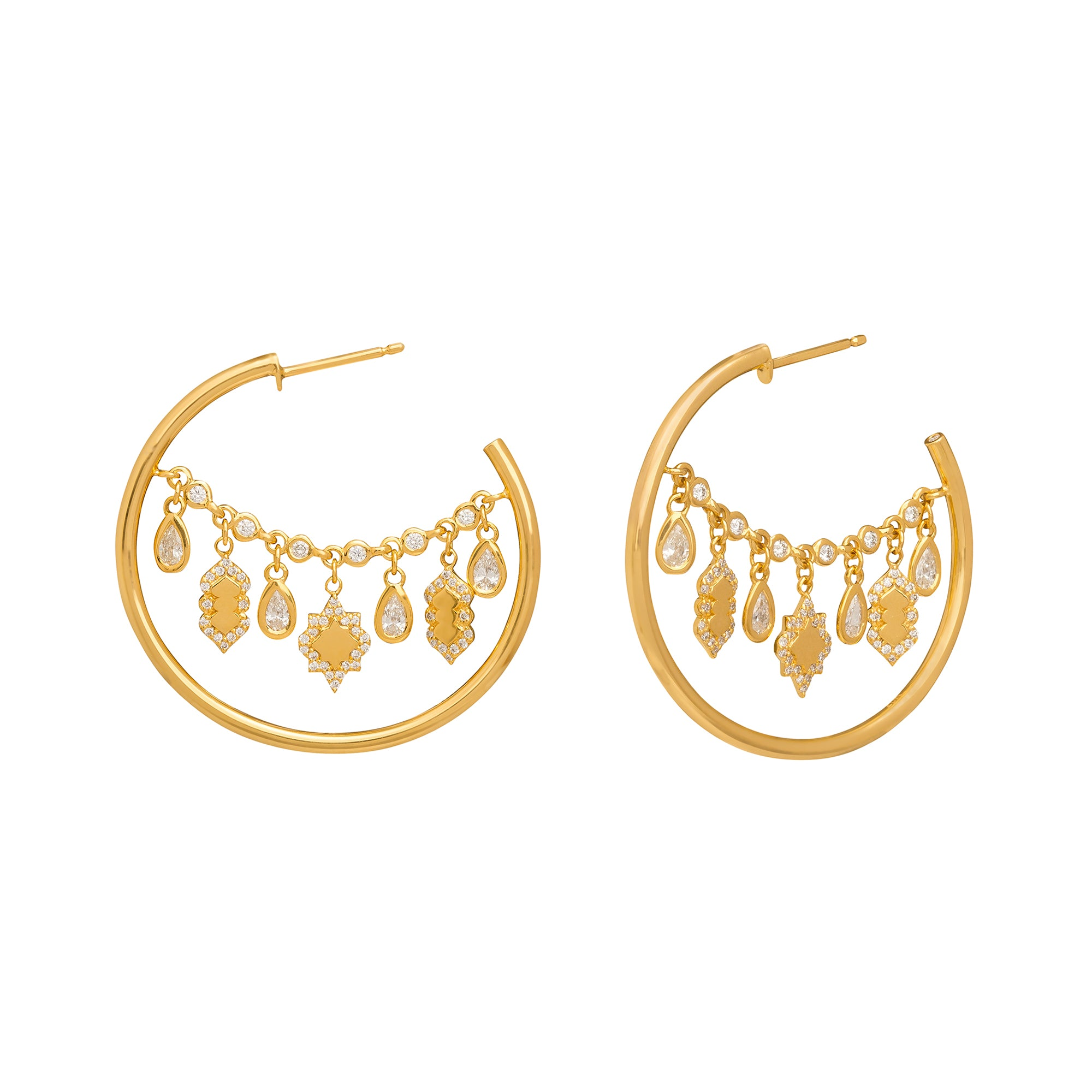 Small Lantern Hoop Earrings by Buddha Mama for Broken English Jewelry