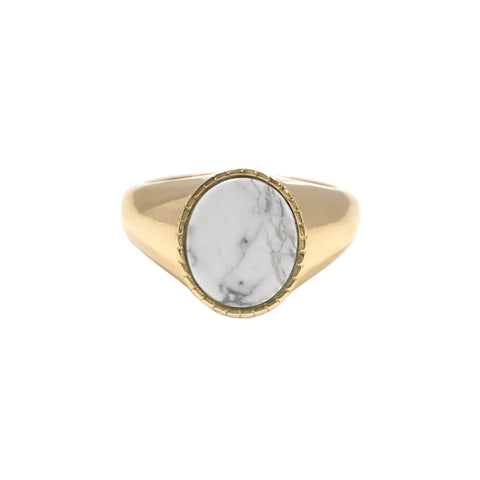 Markle Oval Signet Ring - Bondeye - Ring | Broken English Jewelry