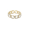 Bondeye Rock Crystal Eternity Ring - Yellow Gold - Rings - Broken English Jewelry