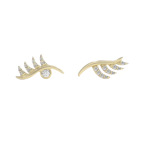 Lashes Studs - Bondeye - Earrings | Broken English Jewelry