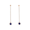 Blue Sapphire Dipper Earrings - Bondeye - Earrings | Broken English Jewelry