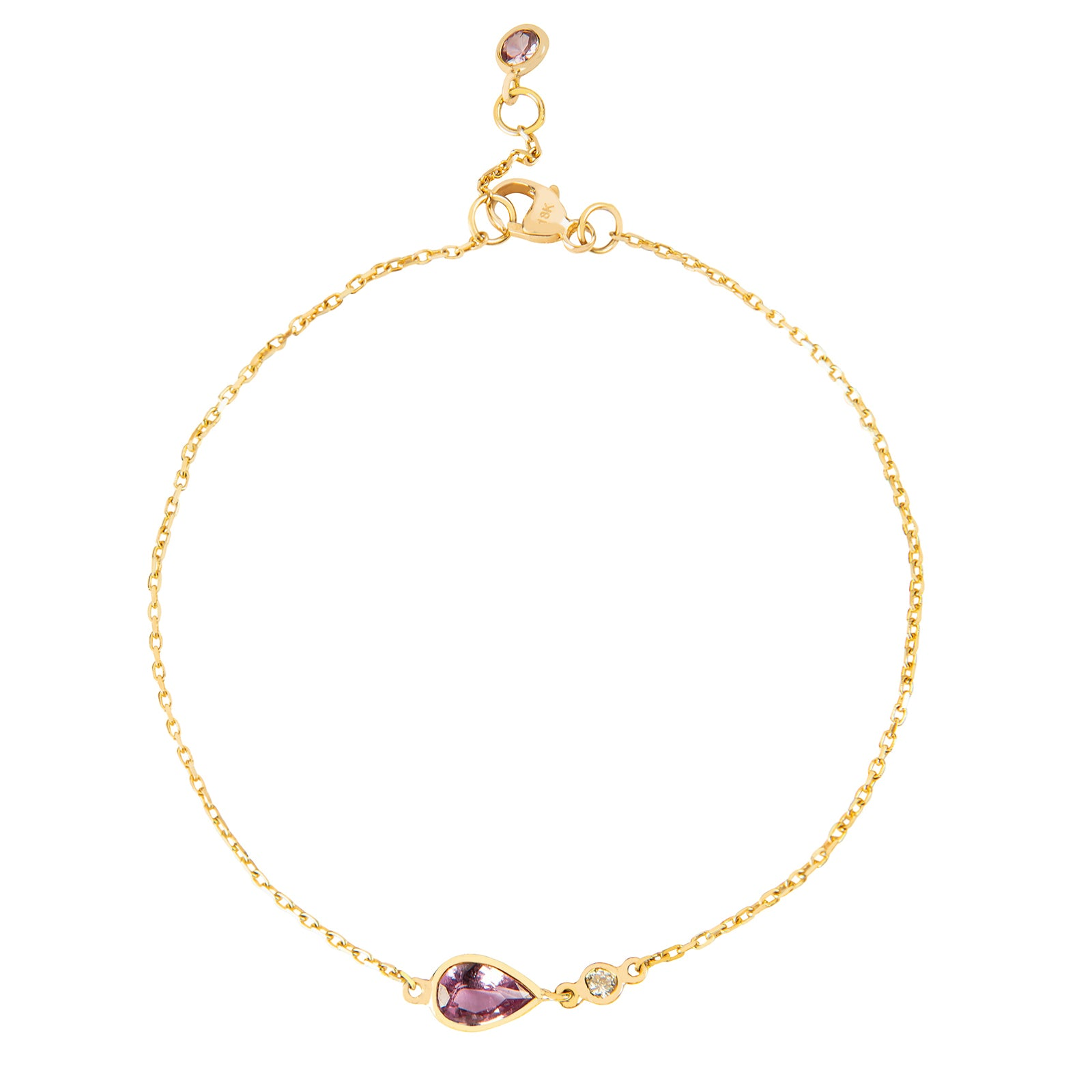 YI Collection Pink Sapphire & Diamond Bracelet - Bracelets - Broken English Jewelry