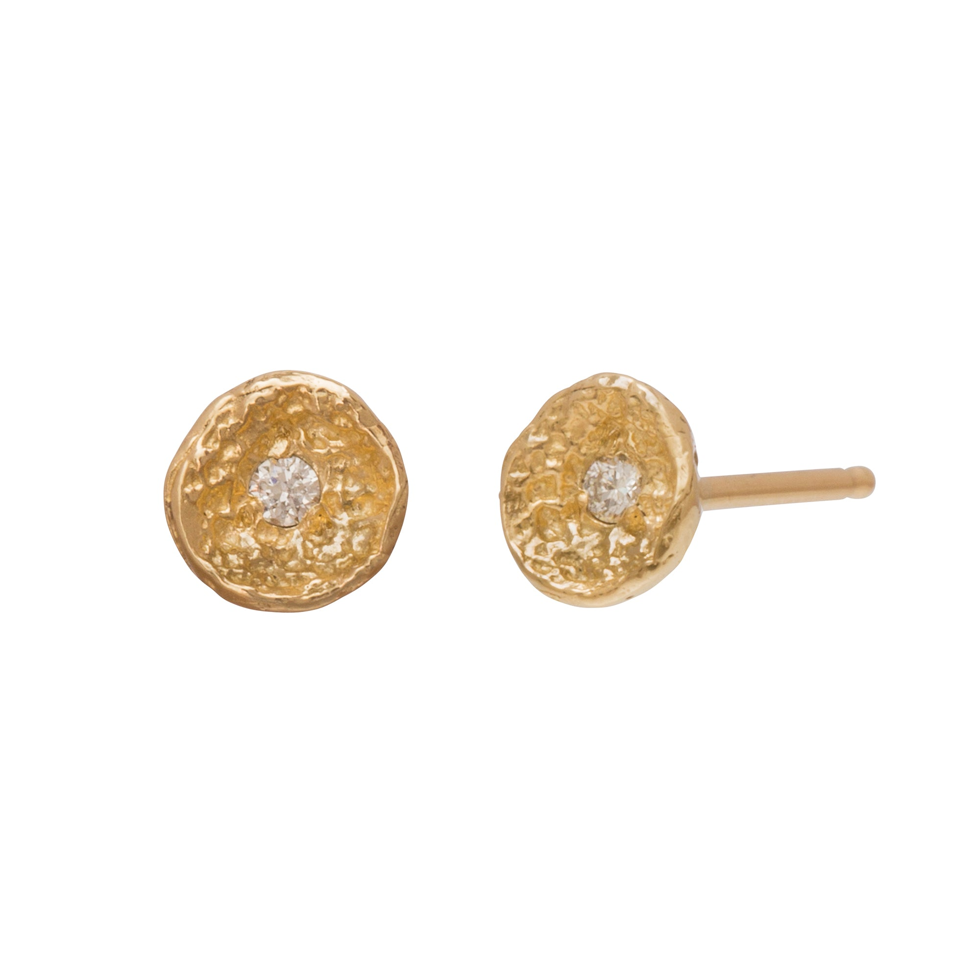 Mini Moss Shell Studs by Branch for Broken English Jewelry