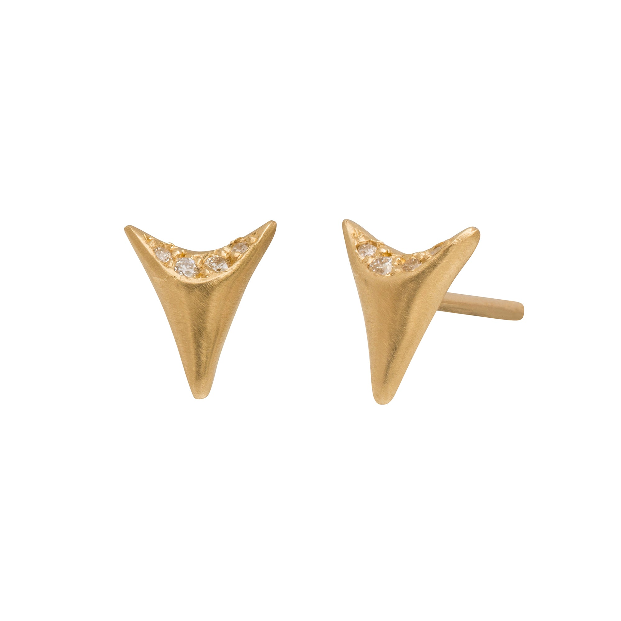 Mini Tooth Studs by Branch for Broken English Jewelry