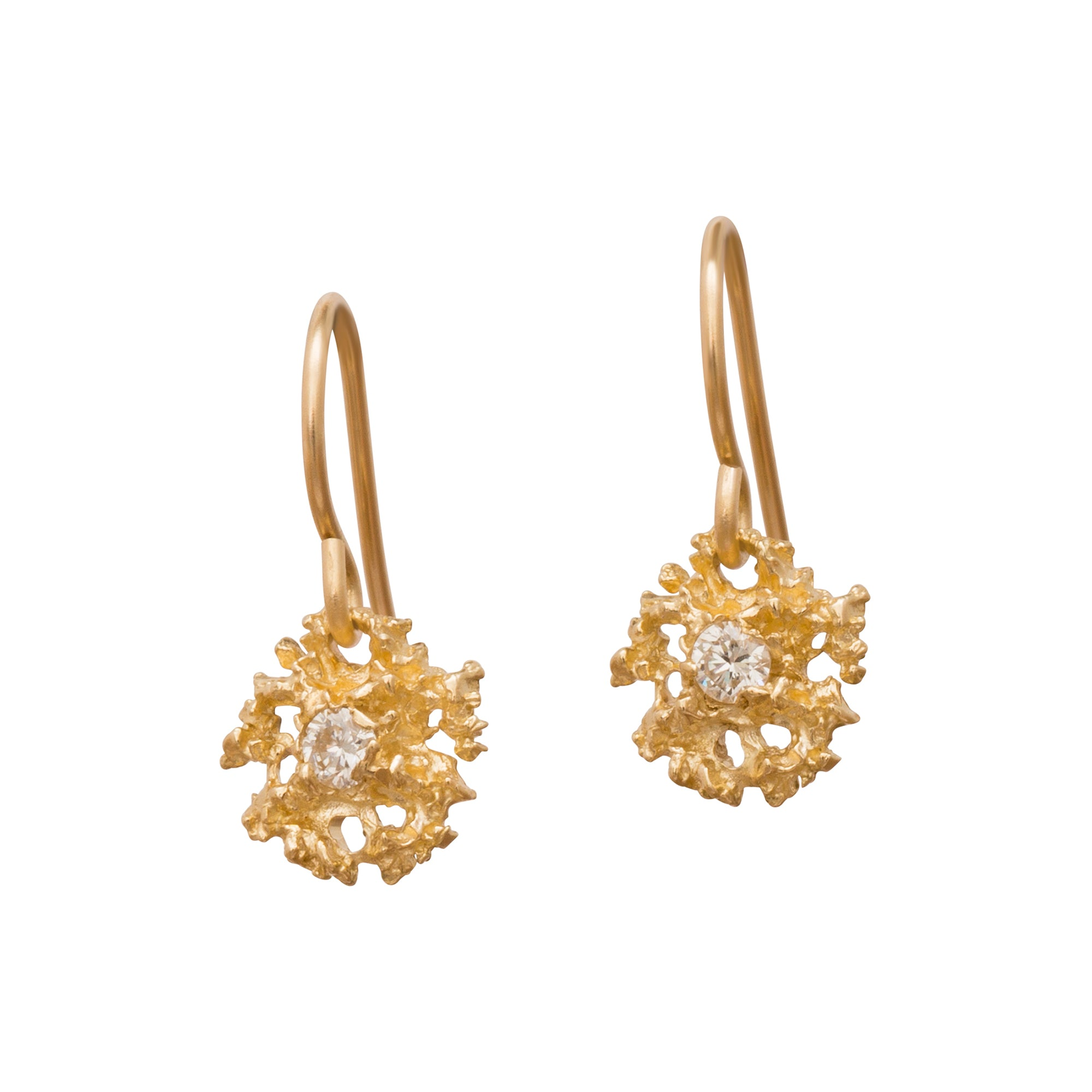 Stellar Lichen Star Earrings by Branch for Broken English Jewelry
