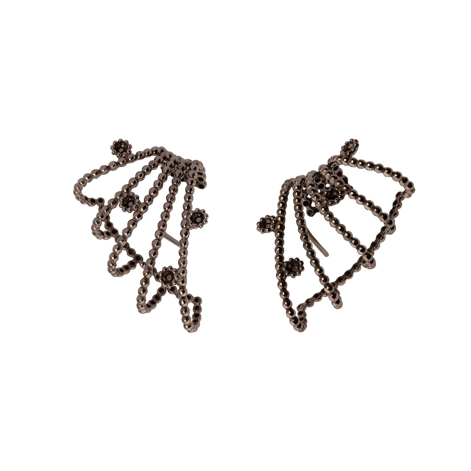 Carla Amorim Vapor Earcuff Earrings - Black - Earrings - Broken English Jewelry