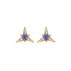 Tanzanite Galactic Star Sud Earrings - Carol Kauffman - Earrings | Broken English Jewelry